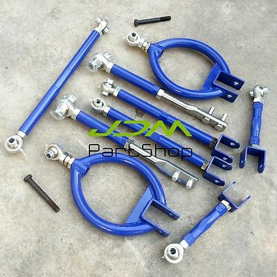 Adjustable Suspension Front Rear Lower Camber Arm Toe For 89-94 Nissan 200SX S13