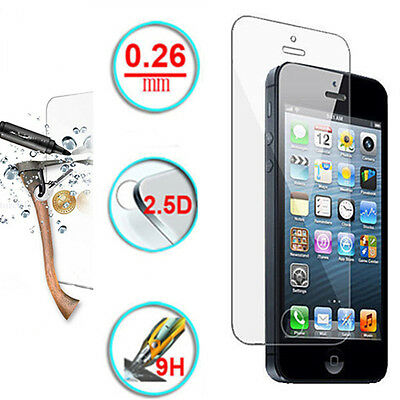 New Ultra Hard 9H Tempered Glass Screen Protector Saver For iPhone 5 5S 5C 6 6S