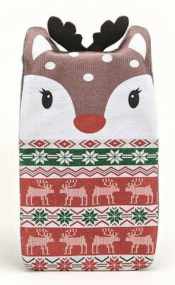 Fair Isle Warm & Cosy Animal Knitted Cover 1 Litre REINDEER Hot Water Bottle
