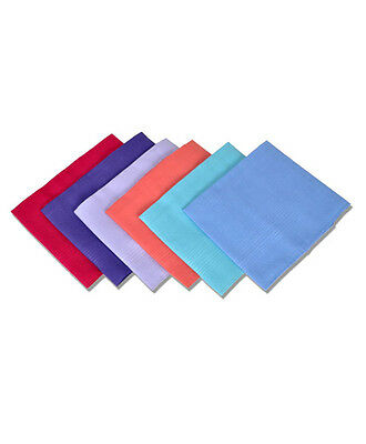 Women's 6pc. Solid Fancy Cotton Handkerchiefs (LSCB1546)