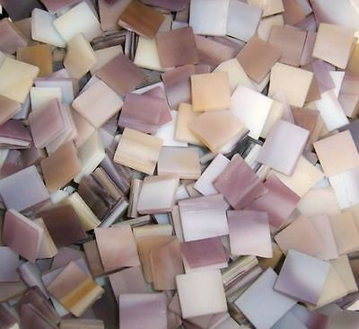 """100 1/2"""" Rosey Brown Tumbled Stained Glass Mosaic Tiles"""