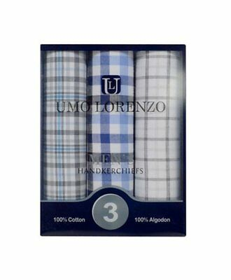 Men's 3pc. Boxed Fancy Cotton Handkerchiefs (MFB1523)