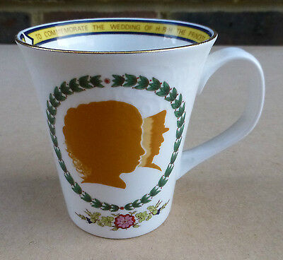 CROWN STAFFORDSHIRE Princess Anne & Mark Phillips Wedding Souvenir Mug 1973
