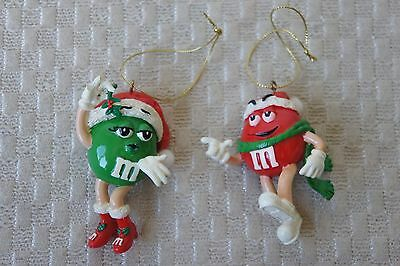 Two M&m Christmas Ornaments