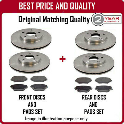 Front And Rear Brake Discs And Pads For Porsche Cayenne 3.0S Hybrid 5/2010-