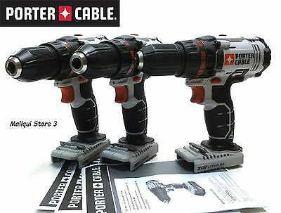 3 Porter Cable Pcc601 Drill Drivers 20V Lithium 1/2 - All Brand New