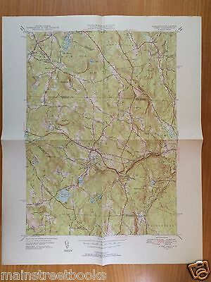 ASHBY MA NEW IPSWITCH NH Townsend Mass 1950 VINTAGE TOPOGRAPHICAL MAP FITCHBURG