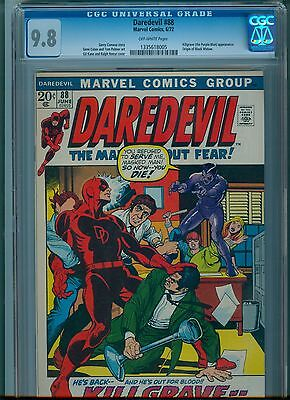 Daredevil #88 CGC 9.8 Off White Pages Highest Graded Copy Black Widow App.