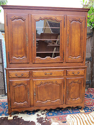 A Beautiful Solid Oak Farm-House Dresser Kitchen Cupboard   Circa 1960