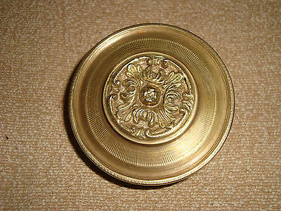 Greece old vintage solid brass large door knob handle pull & push only - D22