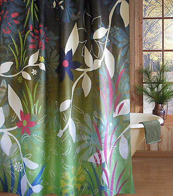 Europe Design Floral Fabric Shower Curtain New Free Shipping