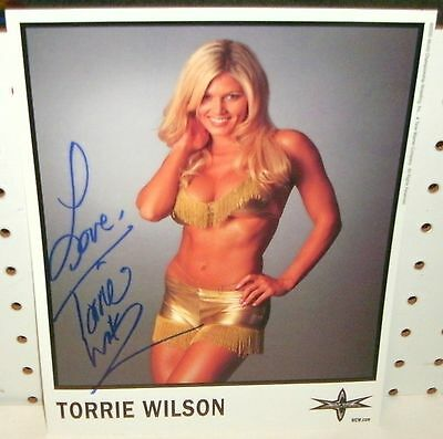 Wwe Diva - Torrie Wilson  - 8X10 Color Autograped Photo  Wcw