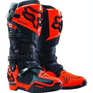 New 2017 Fox Instinct Boots -  Black/orange