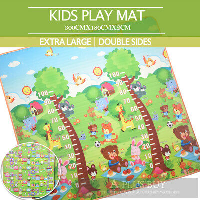 Extra Thick Large 20mm Kids Baby Crawl Play Picnic Mat Floor Rug 1.8mx3m D