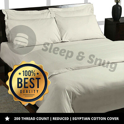 Luxury 400 Thread 100% Egyptian Combed Cotton Bedding, Fitted, Flat, Duvet Cover