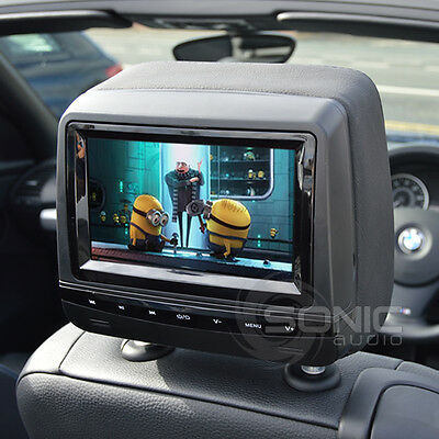 Factory-Style Leather DVD Headrest Screens/Monitors for Mercedes A/B/C/E/S-Class