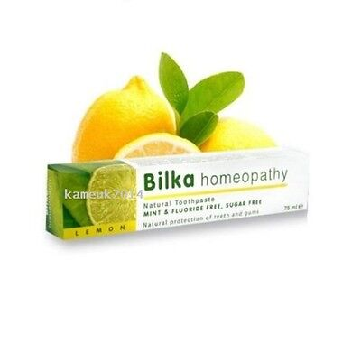 100% Natural Toothpaste Free Fluoride and Menthol Bilka HOMEOPATHY Lemon