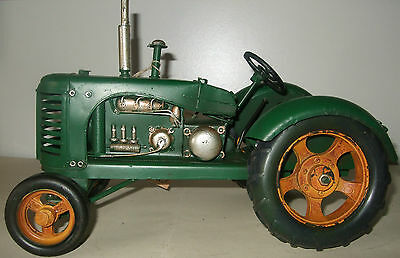 Tin Plate Model of a ClassicTransport Green Tractor /Ornament /Gift