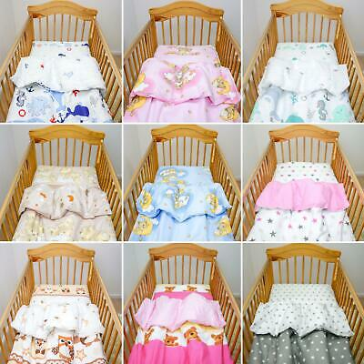 Infant / Kids Duvet Cover Set Fits Cot, Cotbed Crib with Safe Zipper