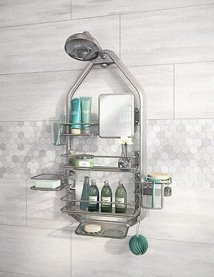 Artika Modern O2 Hanging Shower Caddy Organiser 5 Basket & 1 Mirror Bathroom NEW