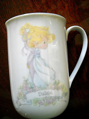 DIANE  Precious Moments Collection Vintage 1989 Coffee Childs Cup Mug