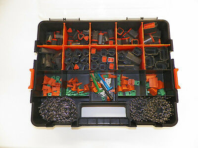 504 Pc Oem Black Deutsch Dt Connector Kit - Stamped Terminals + Removal Tools,