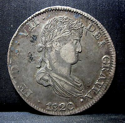 1820 Mexico 8 Reales ✪ Pillar Dollar ✪ Silver Zacatecas Mint Z Vf+ ◢Trusted◣