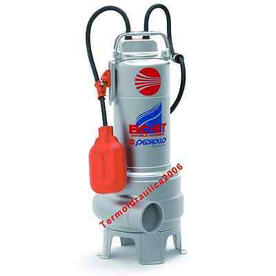 DOUBLE CHANNEL Submersible Pump Filthy Water BCm15/50ST 1,5Hp 230V BC Pedrollo