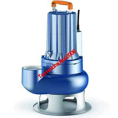 DOUBLE CHANNEL Submersible Pump Sewage Water MC30/70 Cable10m 3Hp 400V Pedrollo