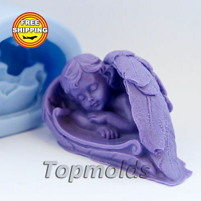 Baby Wings 3 3d Soap Mold Silicone Molds Mold for Soap Mold Angel Free Shipping