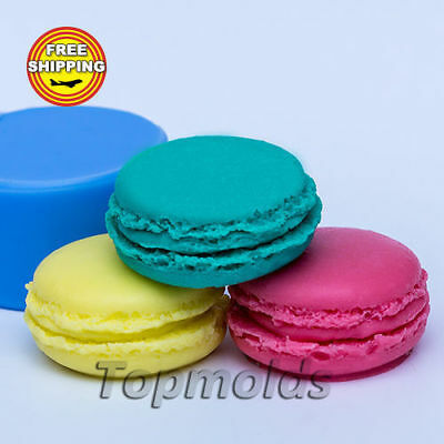 Macaroon 3d Food-grade silicone soap Mold Silicone Mold Free Shipping