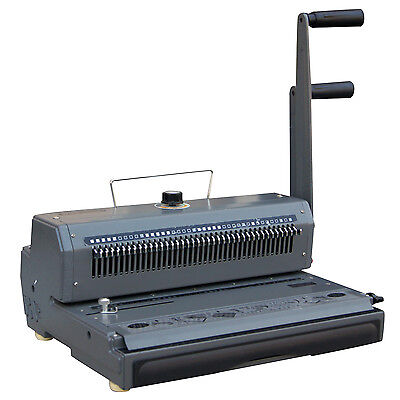 New Heavy Duty Combo 2 Loop Wire Binding Machine,Double-O Wire,Movable Pins,3:1