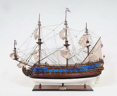 "Goto Predestination Navy Tall Ship 37"" Built Wooden Model Boat  Assembled"