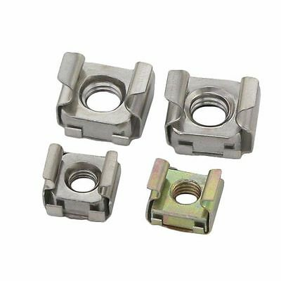10PCS Cage Nuts Floating Nuts Cabinet Metal Nut M4 M5 M6 M8