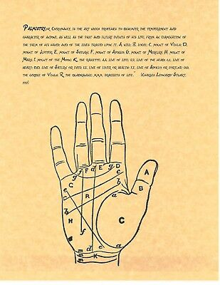 BOOK OF SHADOWS Spell Pages ** Palmistry ** Wicca Witchcraft BOS