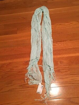 NWT Limited Too Teal Scarf With Sparkles