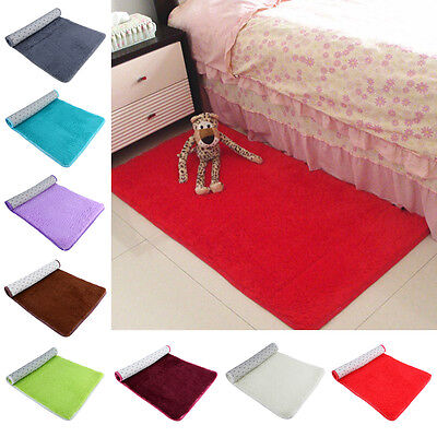 Soft Shower Floor Mat Absorbent Memory Foam Rug Non-slip Bath Bathroom Carpet KN