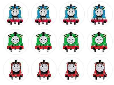 12 Thomas and Friends Edible Wafer Paper Cupcake Toppers