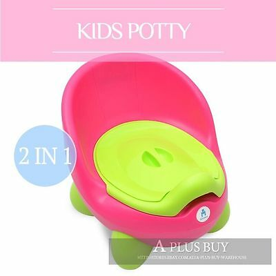 Kids Children Baby Toddler Toilet Training Potty Seat Trainer Chair Pink 2P