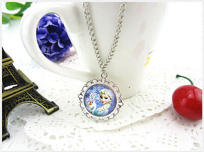 kids girls Disney frozen elsa anna necklace
