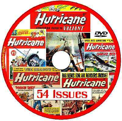 Hurricane Comics on DVD 54 UK issues 1960's various includes viewing software