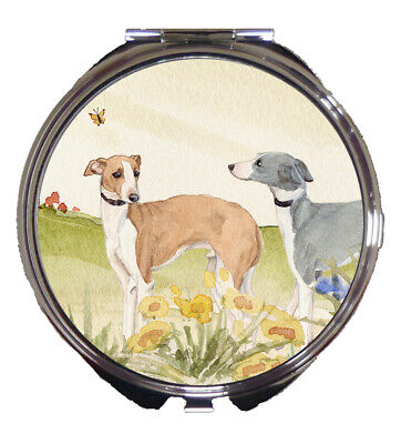 Italian Greyhound Dog Design Ladies Compact Mirror Sandra Coen Artist Print
