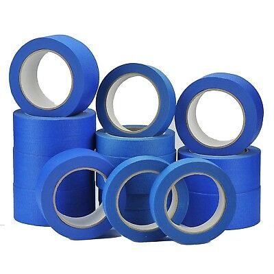 5 Rolls-UV-Resistant-Blue Painters/Decorator-Clean-Peel-Masking-Tape-25mm-x-50M