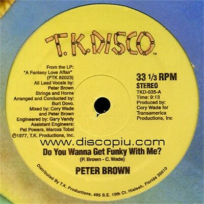 """PETER BROWN do you wanna get funky with me? 12"""" vinyl vinile sealed sigillato"""