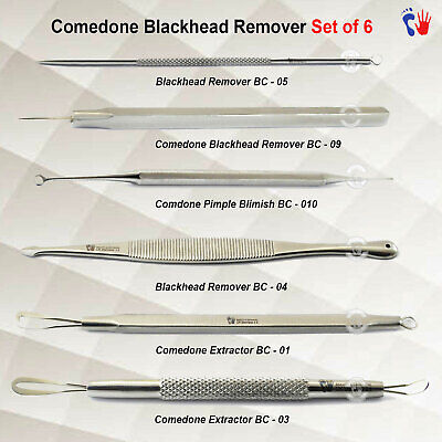 Professional Facial Tools Blackhead Remover Kit Whitehead Extraction Pimple Spot