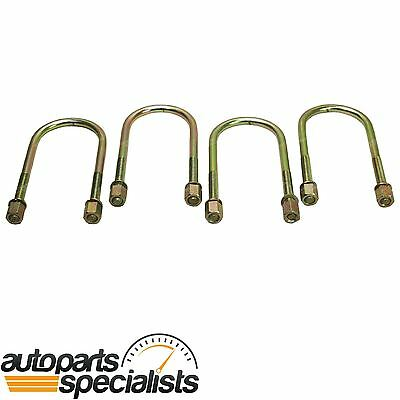 Set of 4 Rear Leaf Spring U-Bolts for Ford Falcon Ute AU BA BF 1999 to 2008