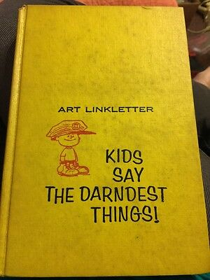 Kids Say the Darndest Things by Art Linkletter (Hardcover, 1957) Vintage