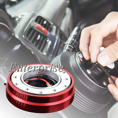 Red Smart Quick Release Hub Snap Off Boss Kit FIT MOMO OMP Steering Wheel UK