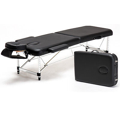 "Aluminum 84""L Portable Massage Table Facial SPA Bed Tattoo w/Free Carry Case"