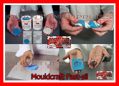 Mouldcraft Fast-Sil 100g Mould Making Silicone Putty RTV Food safe Sugarcraft